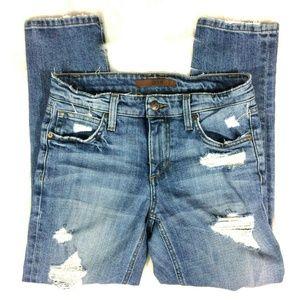 Joe's Gessa Slim Crop Jeans Distressed KSYGSA5549